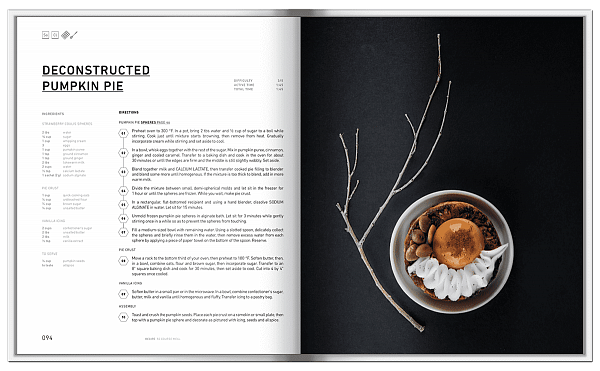 Книга рецептов Molecular 50 course meal